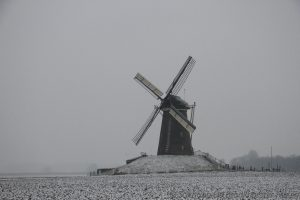 7 januari 2017: Winter rond de molen