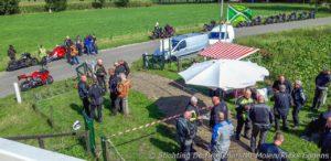 Deelnemers Molen-Motor-Rit genieten van lunch bij Bronkhorster Molen